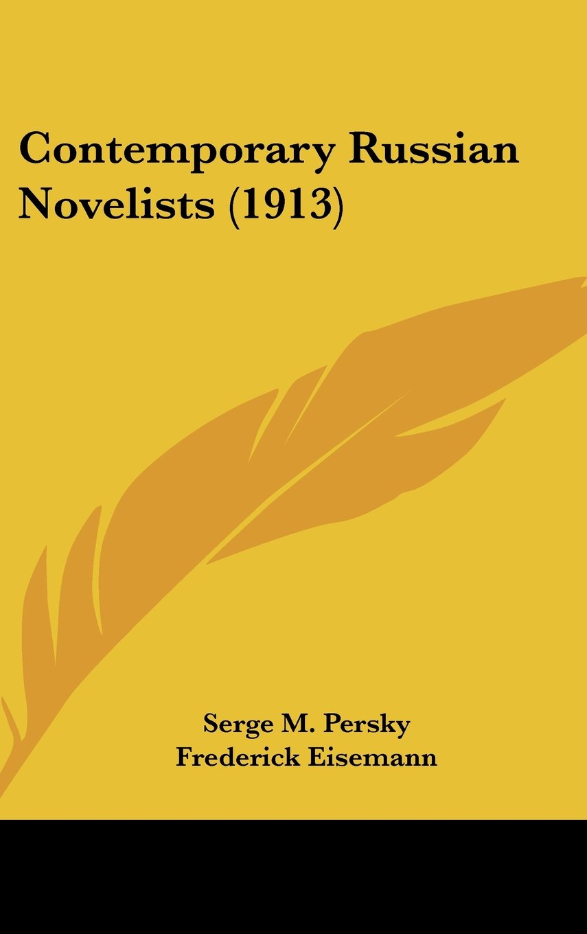 Download Contemporary Russian Novelists (1913) pdf epub