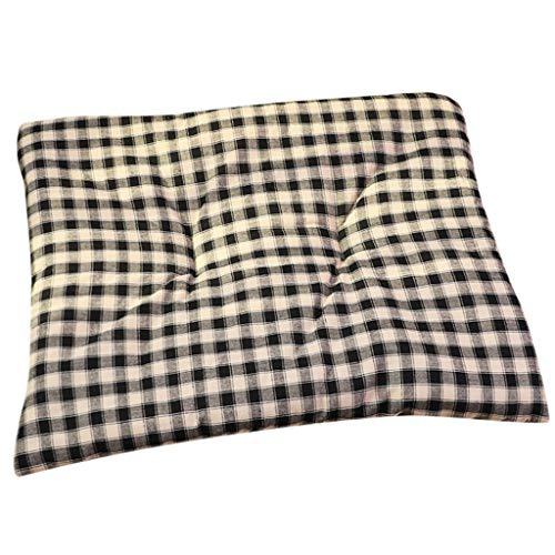 Inkach Pet Square Beds for Puppy Kitten Cave Bed Liner Soft Blanket Small Dogs Cats Sleep Bag Winter Warm Nest Kennel Sleeping Mat Pad Doggy House (S, Black) ()