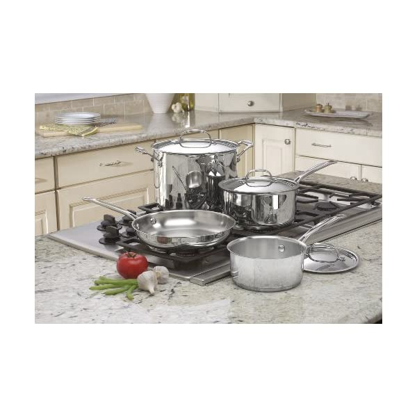 Cuisinart 77-7 Chef's Classic Stainless 7-Piece Cookware Set,Silver 2