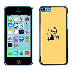 TopCaseStore / la caja del caucho duro de la cubierta de protección de la piel - Gentleman Vintage Poster Man You - Apple iPhone 5C