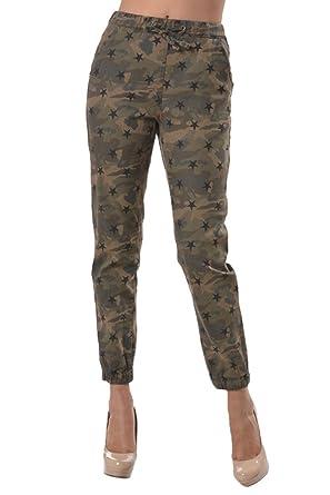 6c50aaad7a5 American Bazi Women s Star Print Jogger Pants SCLJ150 - CAMO - 2X-Large C8G