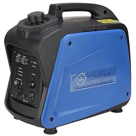 Homegear 2000i Digital 2000 Watts Portable Gas Inverter Power Generator (Portable 2000w Generator)