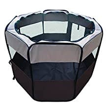 Pet Cuisine Pet Puppy Playpen Exercise Kennel for small and medium Dogs Cats Easily Sets Up & Folds Down & Space Free