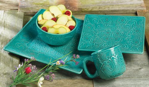 Savannah Turquoise Dinnerware Set - 16 pcs
