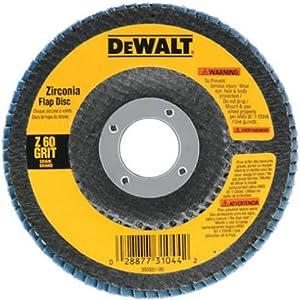 DEWALT DW8302 4-Inch by 5/8-Inch 60 Grit Zirconia Angle Grinder Flap Disc