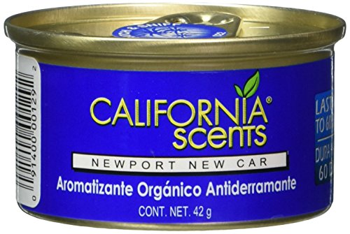 California Scents Spillproof Organic Air Freshener , Newport New Car, 1.5 Ounce (Pack of 12)