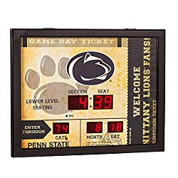 Team Sports America NCAA Bluetooth Scoreboard Wall Clock, Penn State Nittany Lions