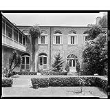 Photo: 720 Saint Peter Street, gardens, New Orleans, Louisiana, LA, Architecture, South, 1937 . Size