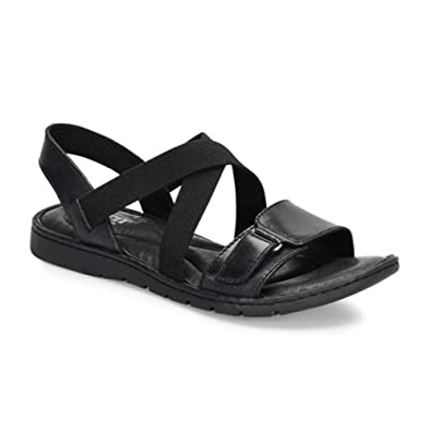 367a1fcdfa33cf Born Womens Britton Leather Open Toe Casual Slide Sandals