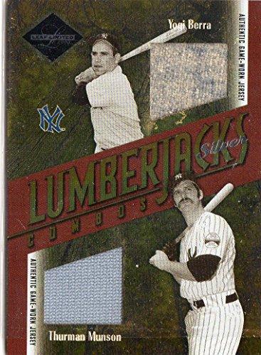 Yogi Berra Card (2003 Leaf Limited Lumberjacks Jersey Silver #41 Yogi Berra Thurman Munson Jersey /10 - NM-MT)