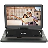 Upgraded Pyle 15 Portable DVD Player, CD Player, Swivel Angle Adjustable Display Screen, USB/SD Card Memory Readers, and Built-in Rechargeable Battery with Remote Control. (PDV156BK)