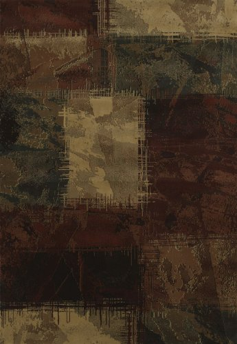 United Weavers of America Genesis Collection Baritone Heavyweight Heat Set Olefin Rug, 1-Feet 11-Inch by 7-Feet 4-Inch, Hunter