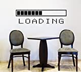 Wall Decals Loading Bar Gamer Gaming Video Game Kids Children Nursery Boys Room Bathroom Vinyl Sticker Wall Decor Murals Wall Decal