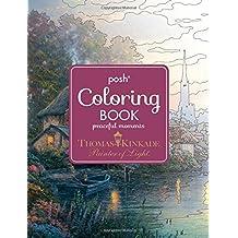 Posh Adult Coloring Book: Thomas Kinkade Peaceful Moments