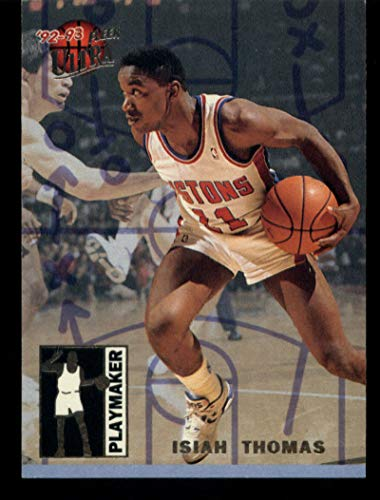 1992-93 Ultra Playmakers #10 Isiah Thomas Pistons Basketball NBA