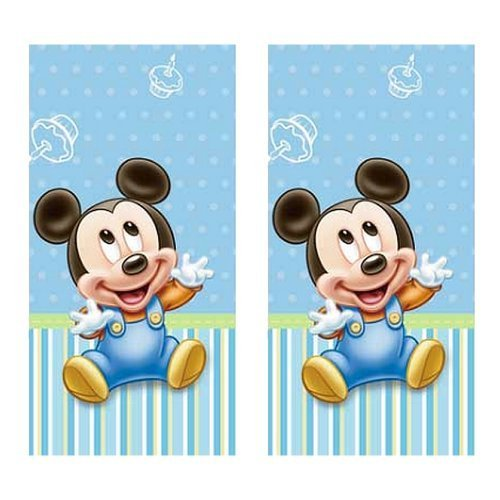Hallmark Disney Mickey Mouse 1st Birthday Party Table Covers - 2 Pieces -
