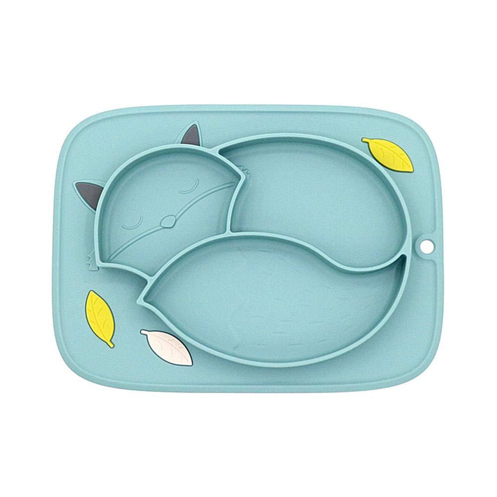 Rosa con Ventosa para beb/és Hamkaw Mantel Individual de Silicona Antideslizante para beb/és para lavavajillas y microondas