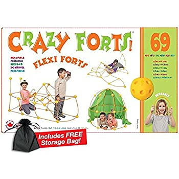 Crazy Forts! Flexi Forts 69 Piece Set with Free Storage Bag by Everest Toys