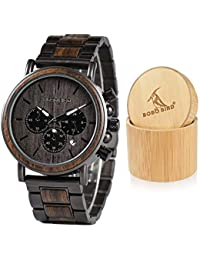 Mens Wooden Watches Business Casual Wristwatches Stylish...