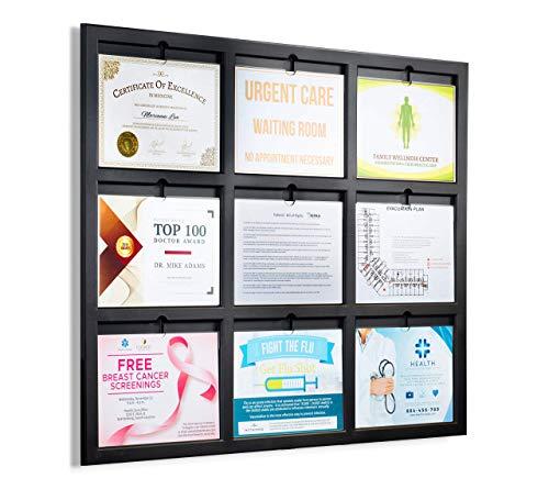 Deluxe You-Noticed Bulletin Board: Semi Enclosed 9 (8.5