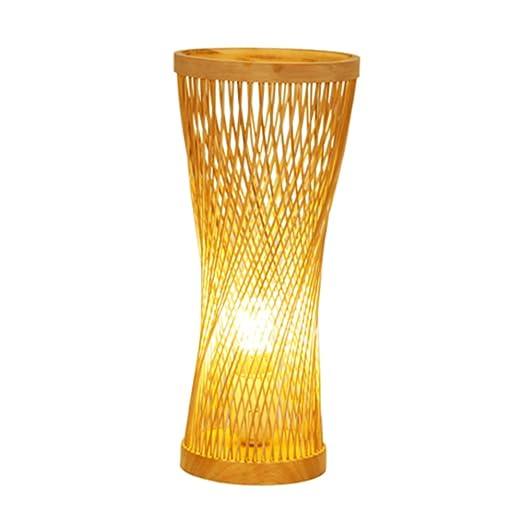 Lámpara De Escritorio De Bambú Del Sudeste Asiático Natural Hecha ...