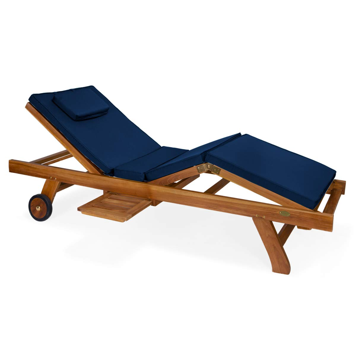 All Things Cedar TL78-B Teak Chaise Lounge Chair