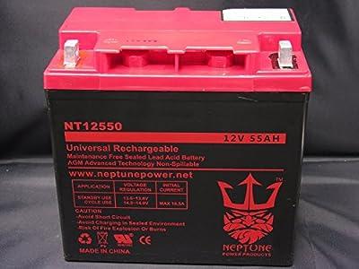 Neptune 12V 55AH Group 22NF GEL Battery for Quickie Z500, V121, S525 Wheelchair