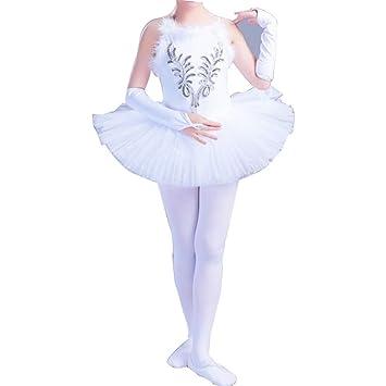 WCZZ De los niños trajes de baile Ballet Little Swan Rendimiento ...