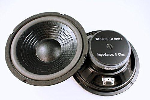 2 Stück Bass Lautsprecher 8 Zoll Mhb 100 Watt 8 Ohm Computer Zubehör