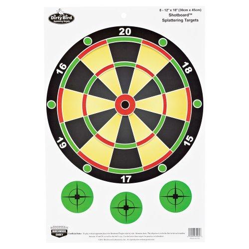 Birchwood Casey Dirty Bird 12 x 18-Inch Shotboard Target, 8 Sheet (Dirty Bird Target)