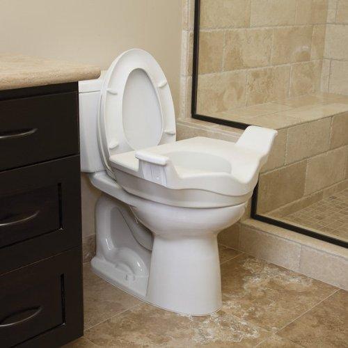 North Coast Medical Locking Elevated Toilet Seat w/Handles