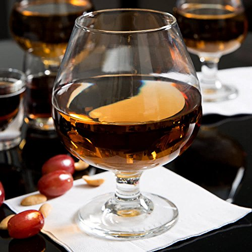 SET of 4, Libbey 3708 Embassy 17.5 oz Brandy Glass w/Signature Party Picks