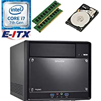 Shuttle SH110R4 Intel Core i7-7700 (Kaby Lake) XPC Cube System , 16GB Dual Channel DDR4, 2TB HDD, DVD RW, WiFi, Bluetooth, Pre-Assembled and Tested by E-ITX
