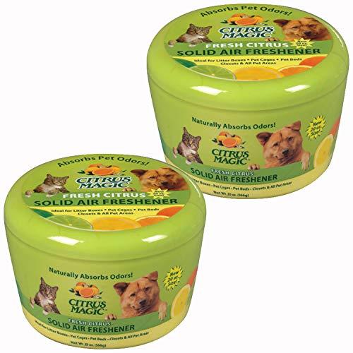 Citrus Magic Pet Odor Absorbing Solid Air Freshener Fresh Citrus, Pack of 2, 20-Ounces Each