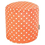 Majestic Home Goods Orange Ikat Dot Indoor/Outdoor Bean Bag Ottoman Pouf 16'' L x 16'' W x 17'' H
