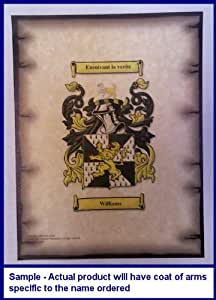 Wicker Coat of Arms on Aged Parchment Look 8 1/2 x 11 Paper