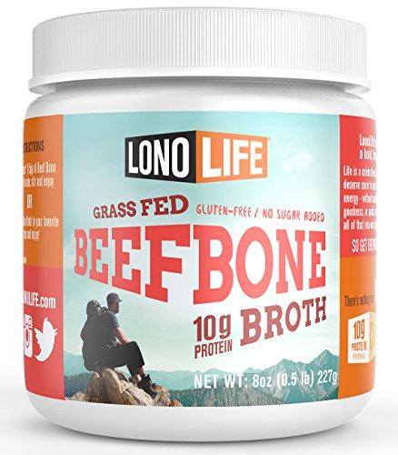 LonoLife Grass Fed Beef Bone Broth 10g Protein - 15 Servi...
