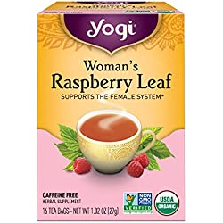 Yogi Tea, Herbal Woman's Raspberry Leaf, 16 Count (Pack of 6), Packaging May Vary