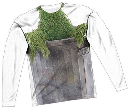 Oscar The Grouch Costume -- Sesame Street All-Over Long-Sleeve T-Shirt, XXX-Large ()