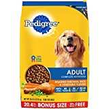 PEDIGREE Adult Complete Nutrition Roasted Chicken, Rice & Vegetable Flavor Dry Dog Food 20.4 Pounds