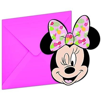 Juego De 12 Minnie Mouse Tropical Juego De Tarjetas De