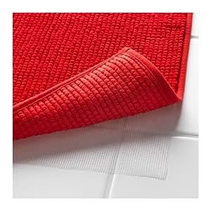 Amazon Com Ikea Red Supersoft Bath Shower Mat Rug Bathtub