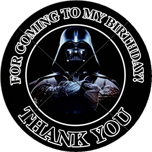 12 STAR WARS - DARTH VADER - Birthday Party Favor Stickers/Labels for Gift, Goody Treat Bag (2.5 inches circle stickers, bags not -