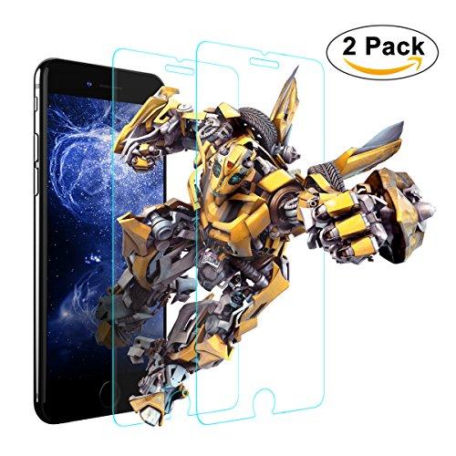 iPhone 6s Plus Screen Protector ,2 PACK Amuoc Tempered Glass Screen Protectors for iPhone 6s 6 Plus