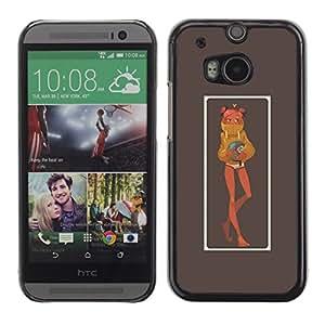 Be Good Phone Accessory // Dura Cáscara cubierta Protectora Caso Carcasa Funda de Protección para HTC One M8 // pink panther chick character poster