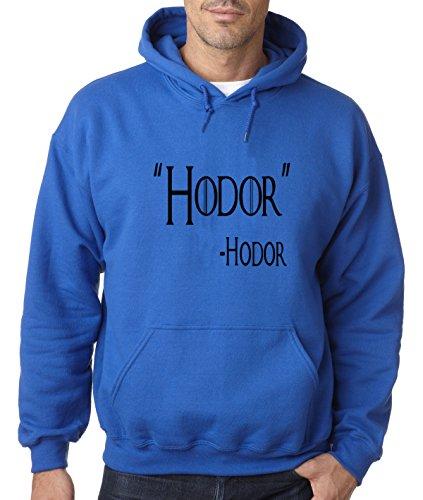 New Way 273 - Hoodie Hodor Hold The Door Game Of Thrones Willis Unisex Pullover Sweatshirt 3XL Royal Blue