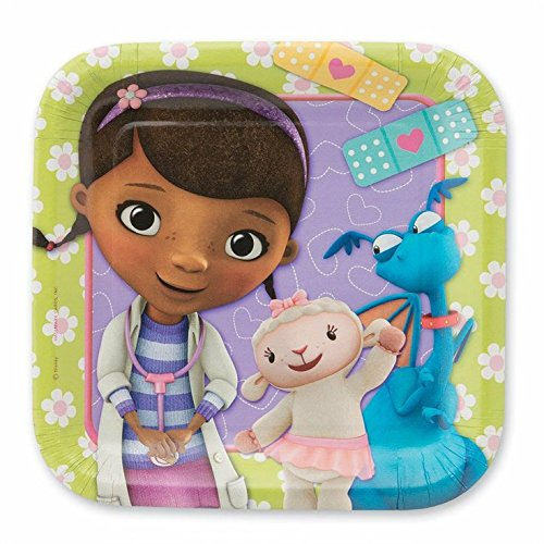 Disney Junior Doc McStuffins Square Dessert Plates (8)