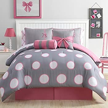 Amazon Com Girl 8 Piece Full Size Comforter Set In Pink