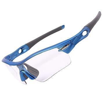 Espeedy Gafas de bicicleta, fotocromáticas descoloración pesca bicicleta ciclismo gafas de sol UV400 anteojos: Amazon.es: Deportes y aire libre