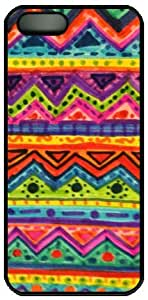 Aztec Tribal Pattern Theme Cover Case for IPhone 4 4S PC Material Black